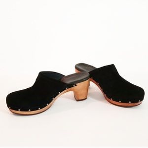 Uggs Suede Leather Black Mules Size: 7